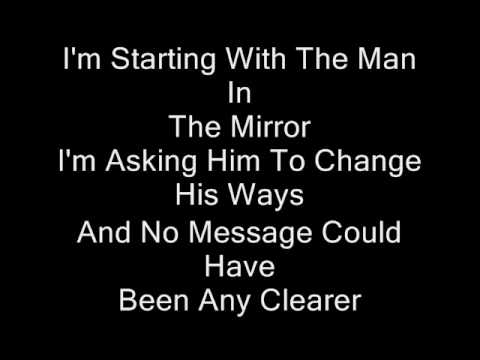 Michael jackson man in the mirror instrumental with lyrics for Mirror mirror lyrics