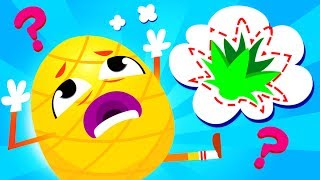 Where Is My Pineapple Crown? The Pineapple has Lost his Crown | Learn Fruits Rhymes by Little Angel