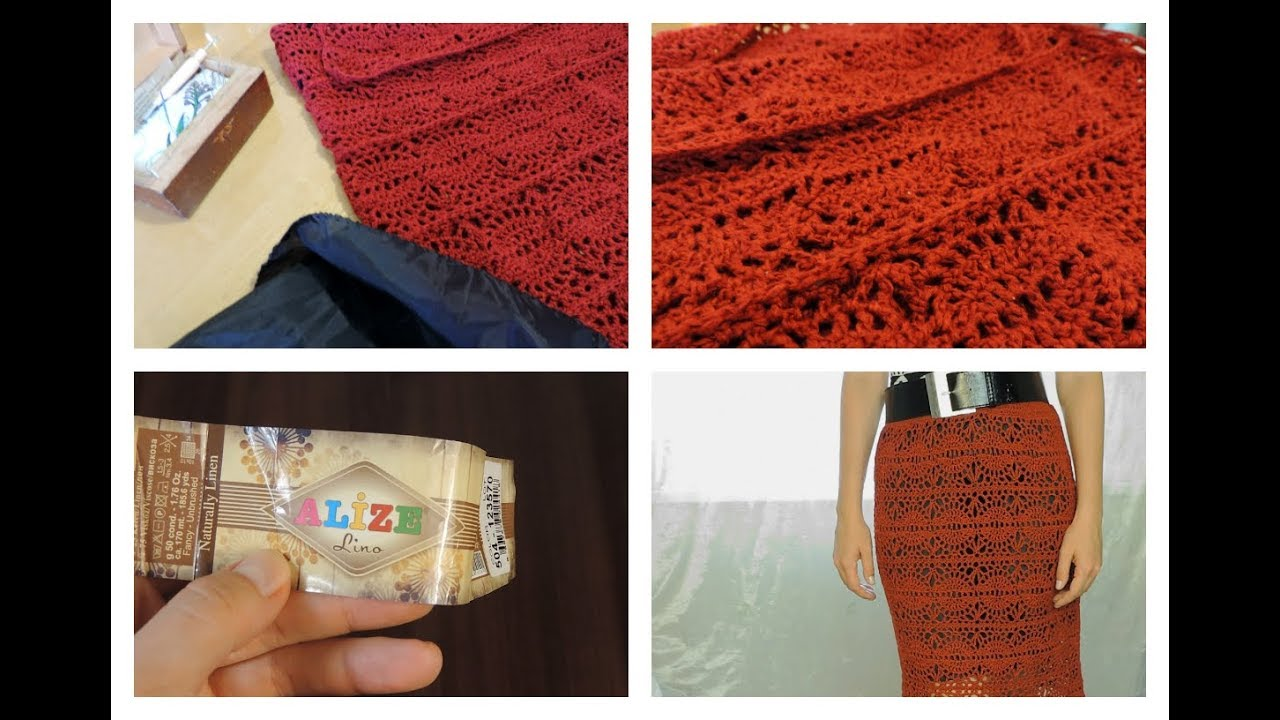 Летняя прямая юбка крючком | ANNETORIUM knits