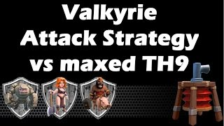 War vs OneHive - Max Valkyrie Attack Strategy vs Fully Maxed TH9 With 2 Jump Spells - Clash Of Clans