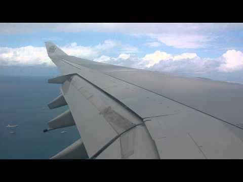 Airbus A340-500 Emirates landing at Seychelles International Airport (SEZ) coming from Dubai (DXB)