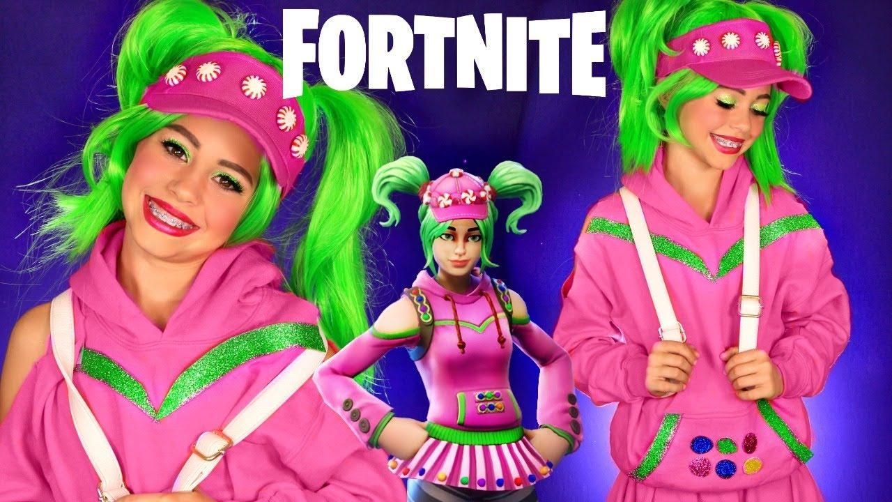 Fortnite Family Halloween Costumes.Fortnite Costume And Makeup Halloween Costume Zoey