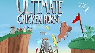 Ultimate Chicken Horse - A Horse Walks Into A Arrow.