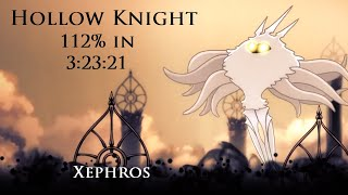 Hollow Knight 112% All Bosses speedrun in 3:23:21 (old WR)