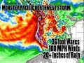 Monster Storm to Hit the Pacific Northwest Coast tomorrow! 36 foot waves 100 mph winds  & Flooding