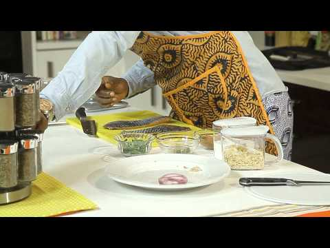 "CHEF EROS Prepares ""MELON SOUP WITH BASIL LEAF SEMOLINA"" in Chefrican on EbonyLifeTV"
