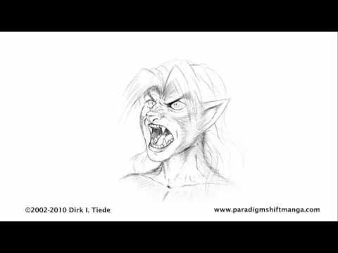 Retouched Werewolf Head Transformation - Updated