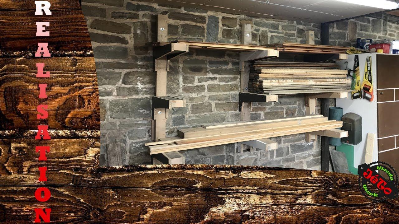 DIY Un rack de rangement en bois de récupération - YouTube