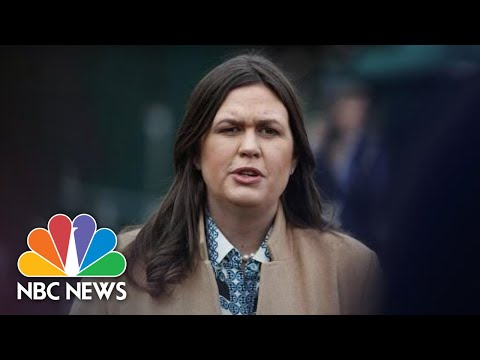 Sarah Sanders Defends President Trump Rhetoric Following Coast Guard Officer's Arrest | NBC News