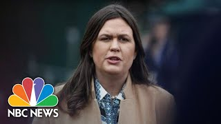 Sarah Sanders Defends President Trump Rhetoric Following Coast Guard Officer's Arrest | NBC News
