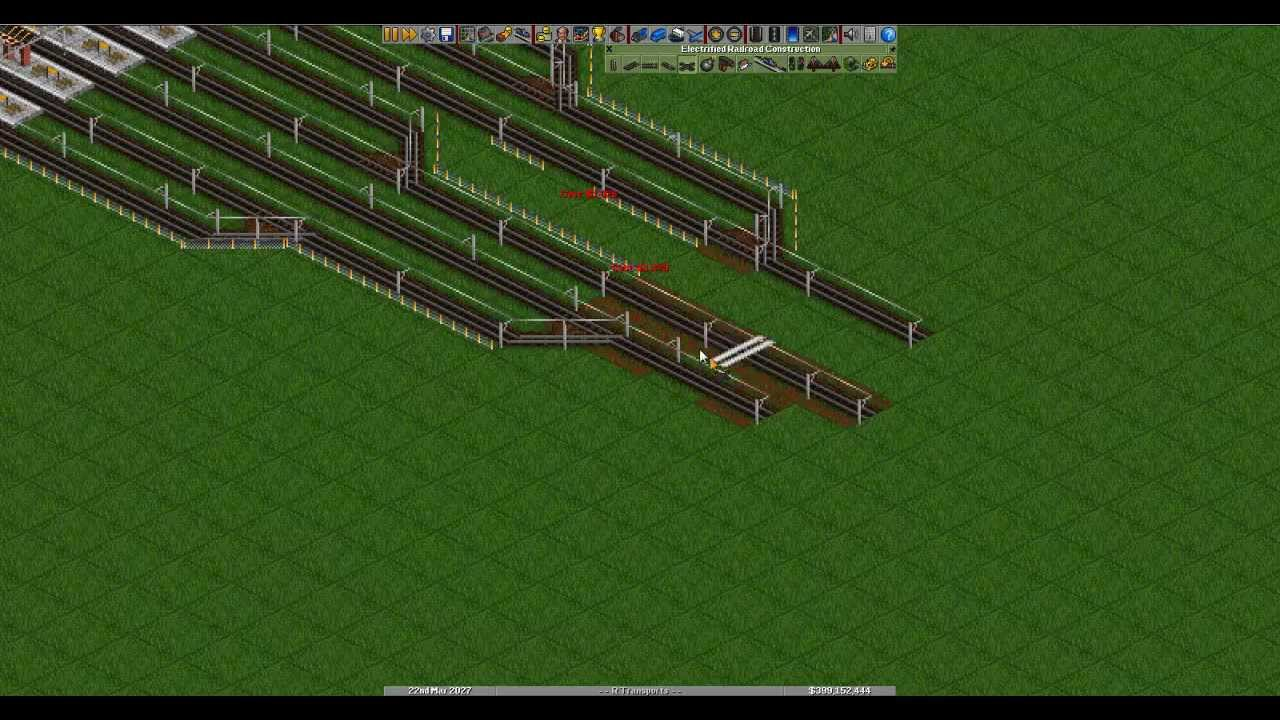 Openttd train station and signals voice tutorial - YouTube