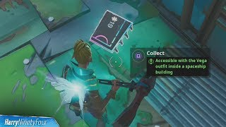 Fortbyte #19: Accessible with the Vega Outfit Inside a Spaceship Building - Fortnite