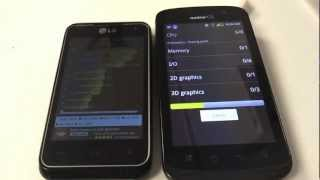 LG Motion VS Coolpad Quattro 4g LTE CPU Speed Test (Quadrant Standard)