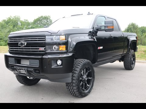 2016 Chevy Silverado 2500hd Lt Z71 4x4 Midnight Edition Duramax 6 Lift Kit Wilson County