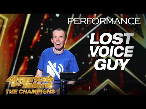 Lost Voice Guy: Comedian Gives Hilarious Take On Disabilities - Americas Got Talent: The Champions