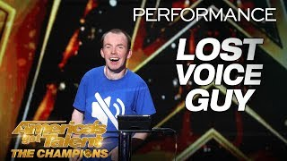 Lost Voice Guy: Comedian Gives Hilarious Take On Disabilities - America's Got Talent: The Champions thumbnail