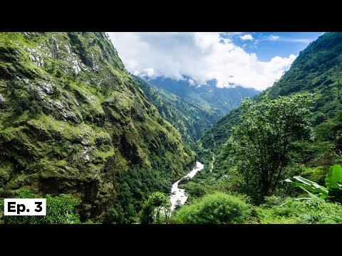CAUGHT IN A MASSIVE LANDSLIDE! - ANNAPURNA CIRCUIT - EP. 3