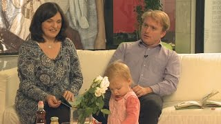 Lackfi János és családja a Babavilágban