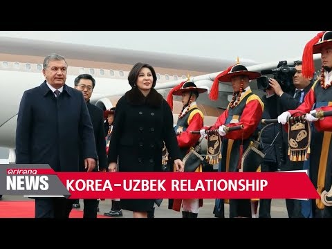 Uzbek President lands in S. Korea, reaffirming strong 25 year partnership