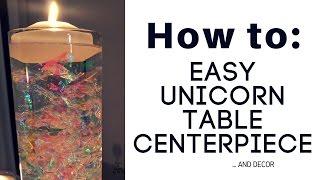DIY Unicorn Rainbow Centerpiece Tutorial
