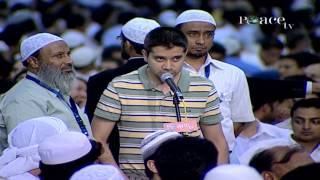 A young man argues with Dr Zakir Naik on various concepts of Islam