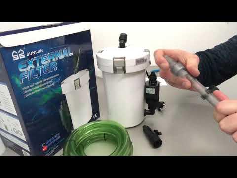 Обзор SunSun внешний биологический наружный фильтр в аквариум HW-603B Full, 400 л/ч