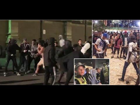 +100's Africans Ruin Moomba Festival Again.(Melbourne) Seven + Nine News