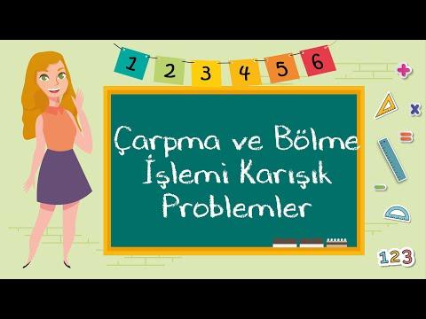 2. Sınıf - Çarpma ve Bölme İşlemi Karışık Problemler