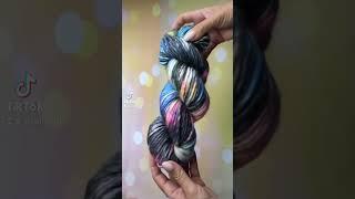 Толстая пряжа ручного окрашивания для вязания объемных шапок свитеров кардиганов