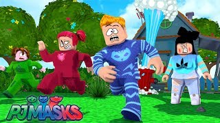 CAT BOY, CORUJITA AND GECKO ESCAPED FROM EVIL MOTHER IN ROBLOX * ESCAPE EVIL MOM OBBY-PJ MASKS
