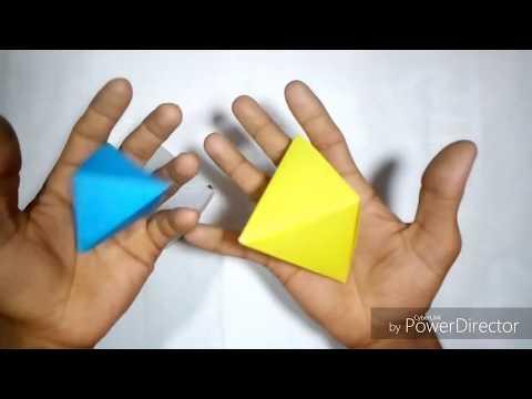 Easy paper diya Decoration tori,। Origami Decoration banano। three paper diya Decoration.....