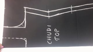 chudithar top cutting and stitching easy method