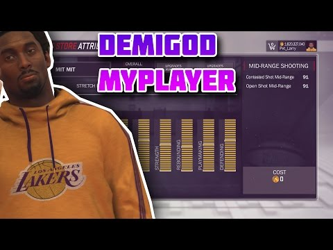 NBA 2K17 - KOBE 7FT DEMIGOD 99 ATTRIBUTES MYPLAYER GLITCH/MOD