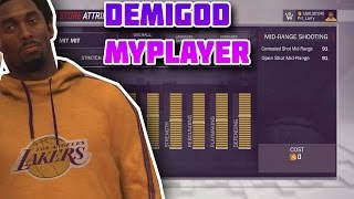 NBA 2K17 - KOBE 7FT DEMIGOD 99 ATTRIBUTES MYPLAYER GLITCH/MOD