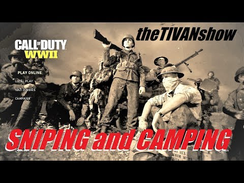 WW2 CALL OF DUTY : SNIPING AND CAMPING W TIVAN #teamlive
