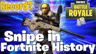Longest Snipe Record on a moving target In Fortnite Battle Royale!