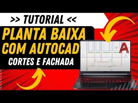 Tutorial Planta Baixa Com Autocad Cortes E Fachada Parte 1 2 Youtube