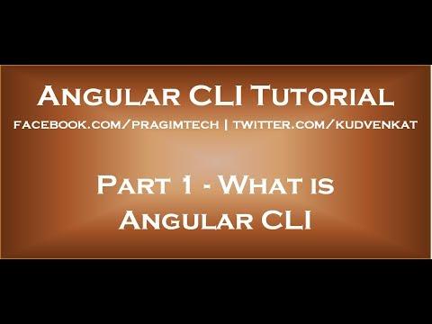 What is Angular CLI