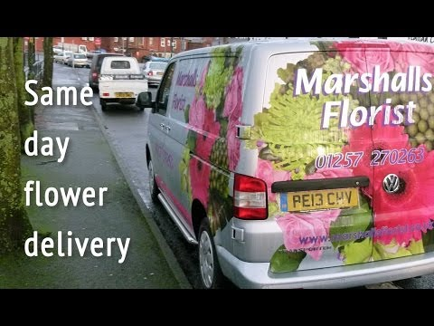 Same day flower delivery - Marshall's Florist, Chorley, UK