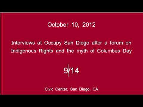 [9/14] Occupy San Diego - Columbus Day Interviews