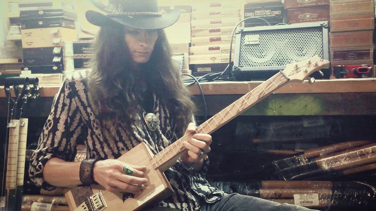 9ec5ad62cbae Custom 4-String Cigar Box Guitar Built by Justin Johnson - YouTube