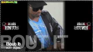 Busy Signal - Bout It [Church Money Riddim] Nov 2012