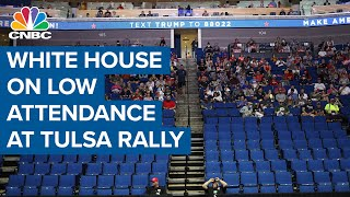Pres. Donald Trump administration responds to disappointing Tulsa rally