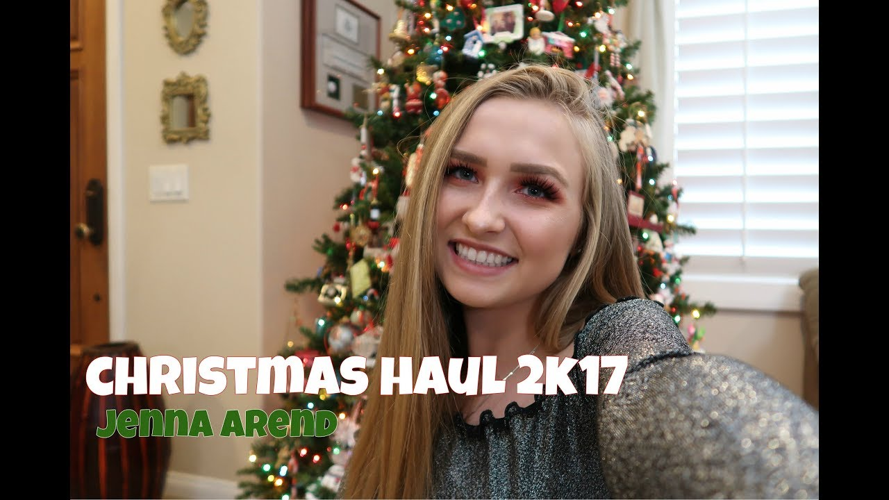 CHRISTMAS HAUL 2017 ♡ JENNA AREND - YouTube