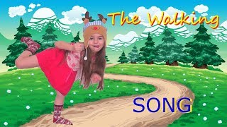 The Walking Song  Action Song for Kids with Miss Lana