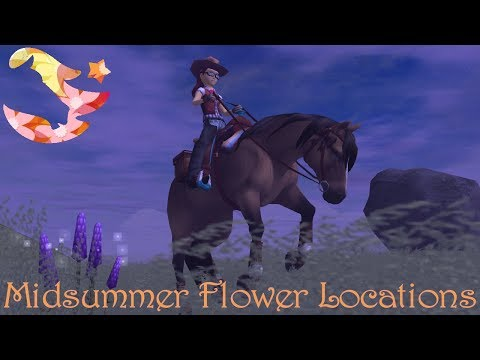 Midsummer,  All 7 Flower Locations! ~ Star Stable Online