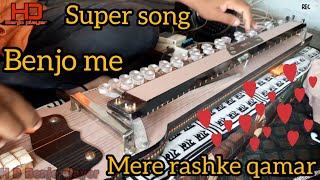 Mere rashke qamar benjo cover song benjo player haresh and ustad jitubapu