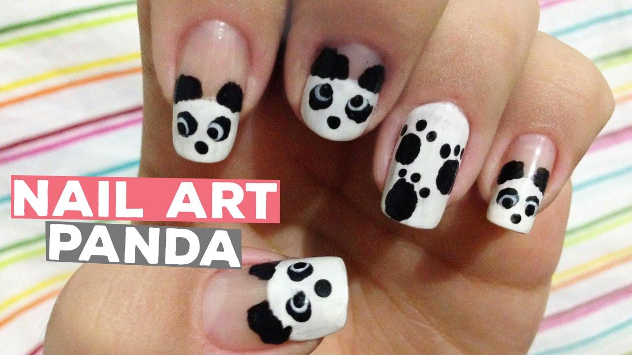 NAIL ART PANDA | KAREN SOUSA - YouTube