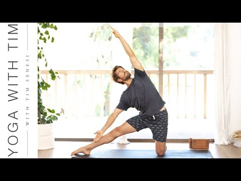 Total Body Yoga Workout w/ Core Strengthening & Shoulder Stand Intro | Yoga With Tim