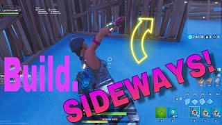 How To Build Sideways In Fortnite Creative Glitch!